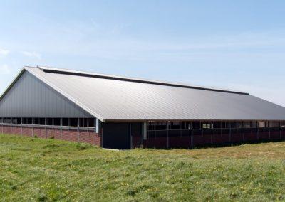 Nieuwbouw stal Melkgeitenbedrijf te Mirns