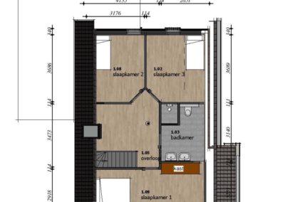 woning arum v4 verdieping plattegrond
