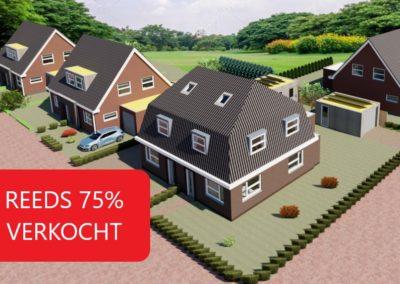 Energie neutrale 2-onder-1-kap woningen aan de Simmersnie Oudega