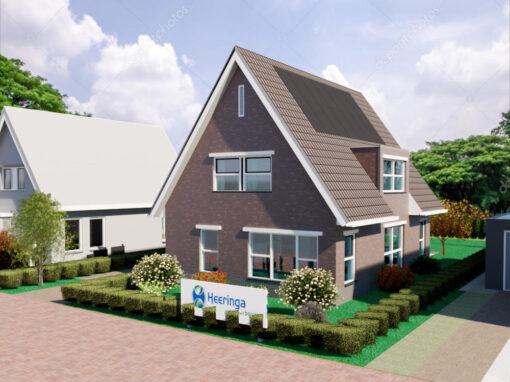 Energie neutrale nieuwbouw woning met aardwarmtepomp in Arum